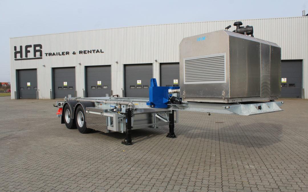 Containerchassis med tip